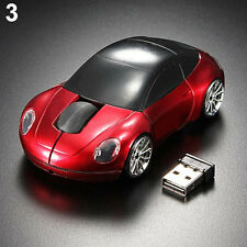Chic Red Racing Car Shaped Wireless Optical Mouse/Mice USB 2.0 For PC Laptop