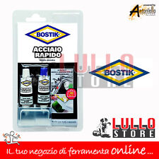 ADESIVO EXTRA FORTE COLLA BOSTIK ACCIAIO RAPIDO DA 15 + 15 ML PER METALLI
