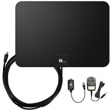 1byone HD Amplified Indoor Digital HDTV TV Antenna High Gain Low Noise 50 Miles