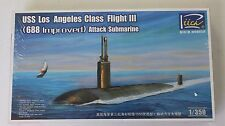Riich USS Los Angeles Class Flight III (688 Improved) Attack Sub 1/350 28007 ST