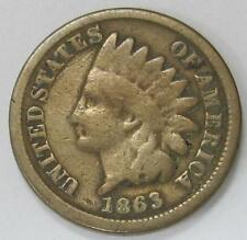 1863 Indian Head * Clear  Date * Nice Color * Great for a Book