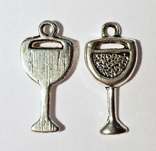 25 X Antique Silver Metal Chalice Religious Goblet Charms Pendants 20mm  B14051