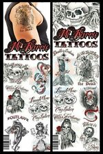 MI BARRIO TEMPORARY TATTOOS * COMPLETE COLLECTION SET HUGE LOT * 10 PCS *