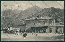Aosta città Stazione cartolina QQ5801