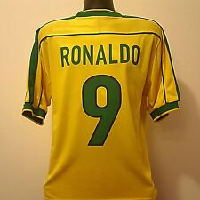 Le brésil shirt ronaldo 9 adultes (l) coupe du monde 98 home football jersey