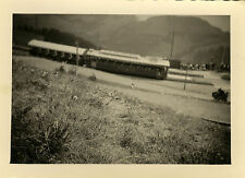 PHOTO ANCIENNE - VINTAGE SNAPSHOT - PETIT TRAIN TOURISTIQUE MONT RIGI BELGIQUE