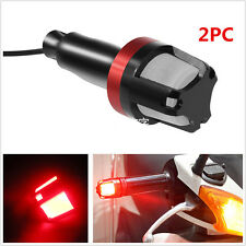 Handlebar Turn Signal Grip Bar End LED Plug Strobe Side Marker Light Motorcycle