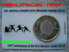 SLOVENIA 2012 COINCARD 3 EURO CVETKO OLIMPIADE PROOF SLOWENIEN SLOVENIJA