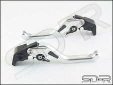 99-03 Ducati MONSTER M400 Carbon Fiber inlay Short SDR Adjustable Levers Silver