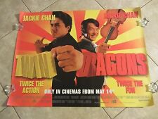 TWIN DRAGONS  movie poster JACKIE CHAN poster - Original UK Quad