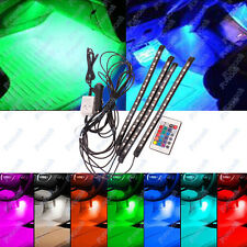 Strip 15 LED Remote Control Colorful RGB Car Interior Floor Decorative Light 12V