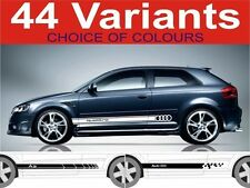 Audi a3 side stripe decals 44 designs Audi s3 quattro Audi s line