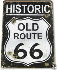 "TIN SIGN ""Route 66 Historic"" Metal Decor Wall Art Store Road A598"