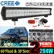"5D CREE 294W 20""INCH LED LIGHT BAR COMBO OFF-ROAD PICKUP DRIVING 4X4WD TRUCK CAR"