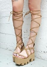 Rare Dolls Kill Sugar Baby Summer Feelz Platform Gladiator Sandals Flatforms