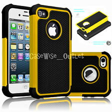 Heavy Duty Tough Soft Case Hybrid Hard Shockproof Cover For Apple iPhone SE, 5S