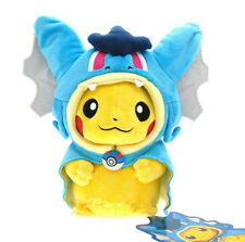 "9"" Pokemon Gyarados Pikachu Cosplay Plush Doll Stuffed Toy Kids Xmas Gift Blue"