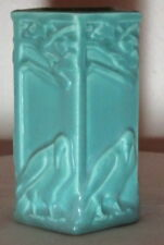 ROOKWOOD POTTERY, ARTS & CRAFTS 5 SIDED ROOKS VASE, JADE GREEN, PERFECT~~