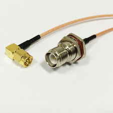 """SMA male RA to RP TNC female bulkhead pigtail cable for wireless router 15cm 6"""""""