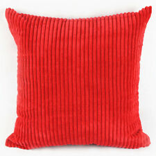 Candy Color Corn Kernels Corduroy Sofa Pillow Case Square Pillowcase Red