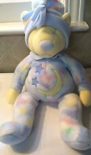 Douglas The Cuddle Toy Plush Bedtime Bear Lovey Blue Yellow Moon Stars NWT