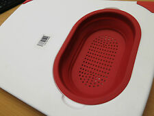 New Grunwerg Chopping/Cutting Board With Silicone Collapsibe Colander/Strainer