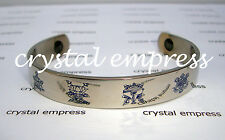 FENG SHUI - 8 AUSPICIOUS SYMBOLS BANGLE (STAINLESS STEEL)