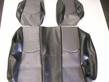 Club Car Precedent Golf Cart Deluxe™ Vinyl Seat Covers-Staple On (Black/Gray)