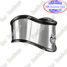 NEW Stainless Steel Posture Collar Bondage Gear Silicone protective edge