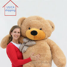"Joyfay® 78"" Giant Teddy Bear 200cm Brown Huge Plush Toy Christmas Birthday Gift"