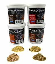 Wood Smoking Chips - Oak, Cherry, Hickory, and Alder Wood Smoker Value Pack - Se