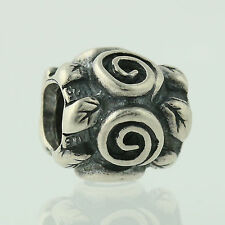 New Pandora Bead Charm - Sterling Silver 790136 Rose Leaf Retired ALE Floral