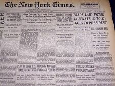 1940 APRIL 6 NEW YORK TIMES - TRADE LAW VOTED IN SENATE - NT 2895