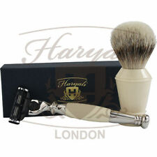 Badger hair shaving brush, Gillette mach 3 blade shaving razor comes in gift Box