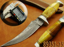 Damastmesser Jagdmesser Yellow Bone Damascus Hunting Knife 89351-15-4200
