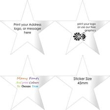 STAR Gloss White Return address labels  Personalised Stickers customised x100