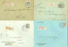 DENMARK: Lot 4 registered covers 1941-44.