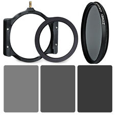 ZOMEI Graufilter ND2+ND4+ND8+72mm Ring+Halter+CPL Kit für Cokin Z Lee Series