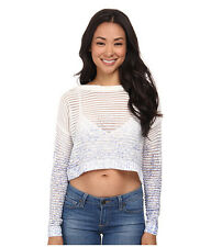 NWT $68 Olive & Oak Splatter Crop Sweater Top Blue Horizon Size M Really Nice!