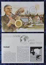 Numisbrief - Estland / Eesti - mit 50 Senti Münze - 1992