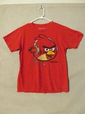 S4416 Fifth Sun Men's Medium Red Angry Bird With Headphones Graphic T-Shirt