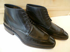 Bleu Noble van Bommel cuir complet bottines uk 8.5 42.5 pointu split toe rare