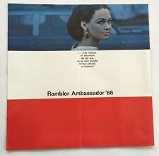 1966 Rambler Ambassador BIG Spanish Car Brochure Catalog - American Motors