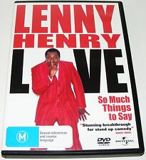 LENNY HENRY LIVE--So Much Things To Say----(Dvd)