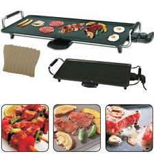 Electric Teppanyaki Table Top Grill Griddle BBQ Barbecue Camping & Spatulas