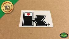 """Kuwahara """"K"""" EXHIBITIONIST BMX Bottom Bracket or Head Tube Decal Sticker - Black"""