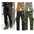 Casual Men's Military Army Cargo Pants Combat Work Trousers Outdoor Slim fit