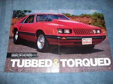 "1979 Mustang Drag Car Article ""Tubbed & Torqued""  Big Block Ford 508"