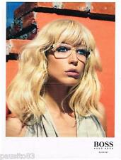 PUBLICITE ADVERTISING 105  2011   HUGO BOSS   collection lunettes