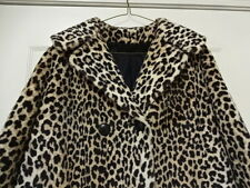 EXCELLENT CONDITION FEW TIMES USED VINTAGE 60'S LEOPERD FAUX FUR SWING COAT